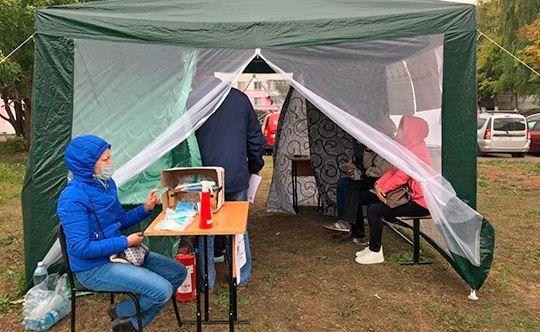 На выборах президента в Молдавии голосовать будут в палатках