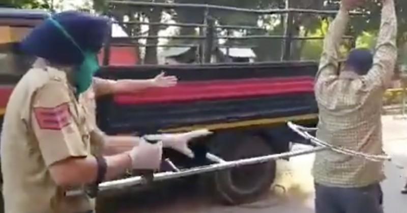 Индия: полиция использует специальный «металлический сачок», чтобы вылавливать нарушителей карантина