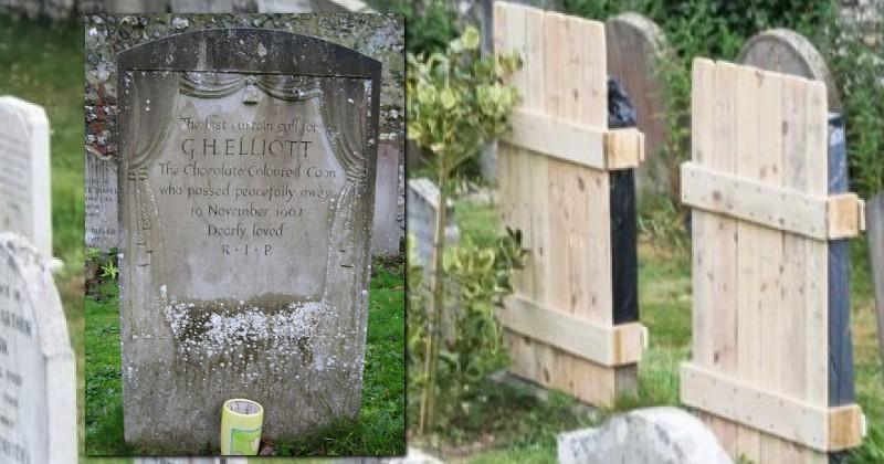 Политкорректность добралась до надгробий: на британском кладбище мемориальные плиты из-за надписей укрыты деревянными щитами