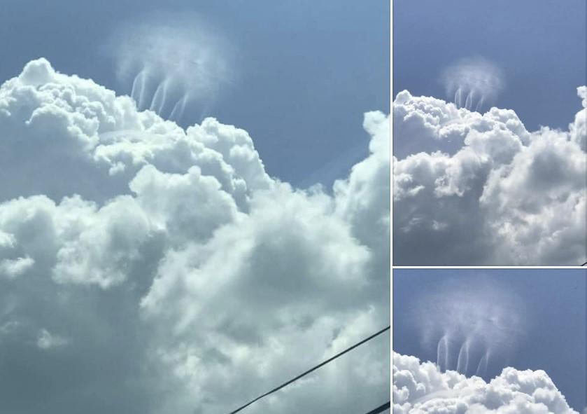 «Хор ангелов», «танцующие инопланетяне», «облачные торнадо»: что-то странное возникло над  огромным облаком над Эшвиллом, штат Алабама