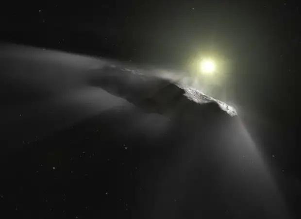 """Межзвездный путешественник """"Oumuamua"""" - инопланетная технология.Ученые не могут объяснить природу объекта"""