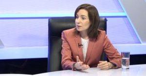 Майя Санду: отставка правительства и президента пока невозможны - в парламенте не хватает голосов