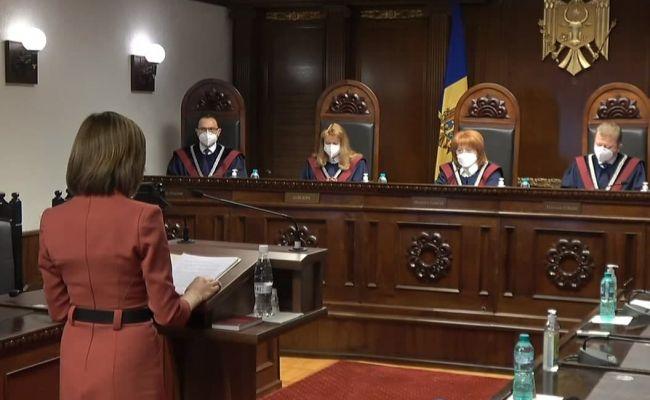 Санду в Конституционном суде персонально добивается отставки парламента РМ