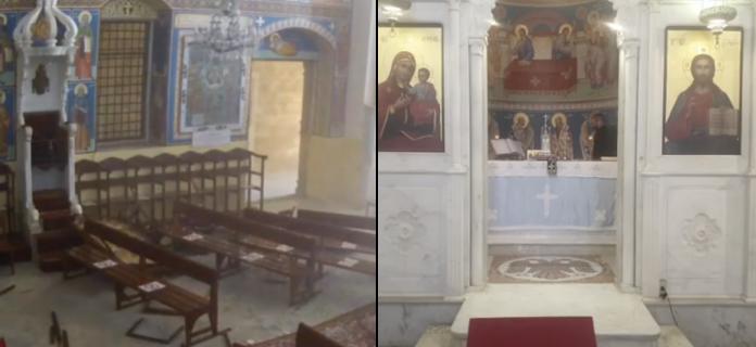 Алтарь в греческой православной церкви Святого Димитрия в Бейруте пережил мощный взрыв