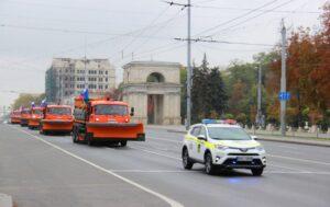 Россия подарила Кишинёву 5 спецмашин для уборки