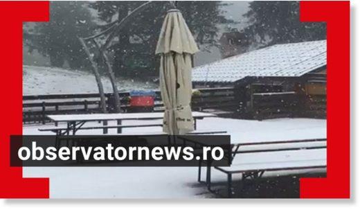 Июньский снег в Румынии - самый холодный  день месяца за всю историю наблюдений