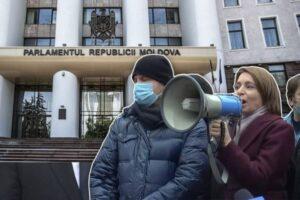 Майя Санду призвала молдаван «свергнуть парламент»