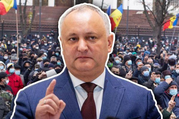 Игорь Додон пообещал Майе Санду многотысячные протесты