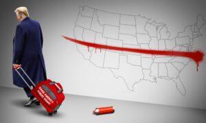Красно-синий и бело-чёрный раскол в США