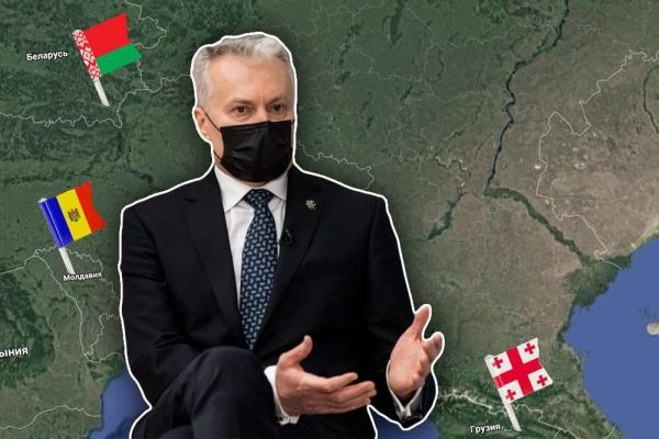 Президент Литвы обеспокоен судьбами Беларуси, Молдовы и Грузии
