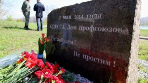 Одесситы почтили память погибших в Доме профсоюзов